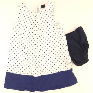 babyGap Polka Dot Dress with Bloomers White Navy 3